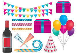 celebration party items free vector stock graphics