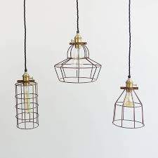 Wire Pendant Light Industrial Rusted Wire Pendant Light By The Den Now