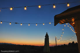 Decorating With String Lights Diy Posts For Hanging Outdoor String Lights House Updated