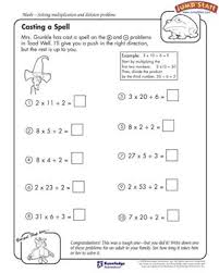 casting a spell u2013 4th grade math worksheets u2013 jumpstart