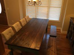 Jacobean Dining Room Set by Finished Farm Table Pine Top Distressed And Burned Finished With