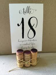 Vintage Table Number Holders 20 Handmade Cork Table Number Holders Tied With Gold Cord Ribbon