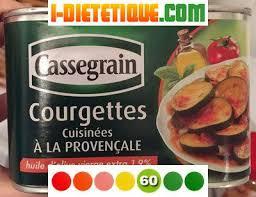 courgettes cuisin s courgettes cuisinées à la provençale cassegrain calories