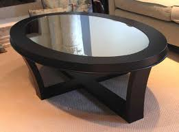 Oval Glass Coffee Table by Coffee Table Exciting Small Black Glass Coffee Table Small Round