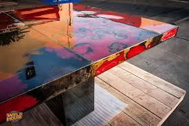 Industrial Boardroom Table A Beautiful Conference Table Made From Recycled Steel U2014 Weld House Llc