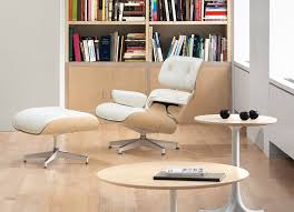 Armchairs And Ottomans Hermanmiller Eames Lounge Chair U0026 Ottoman White Ash The