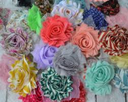 fabric flowers etsy
