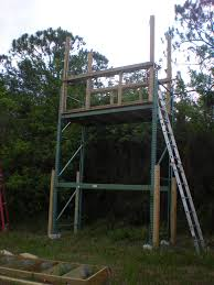 the penthouse deer blind made from industrial racks i am so