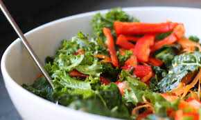 chopped kale salad with thai sesame dressing soy free further food