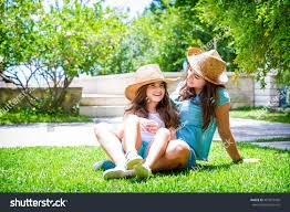 garden family happy family garden beautiful mother her stock photo 407073430