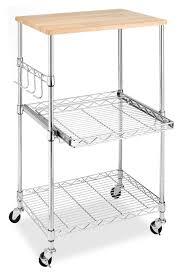 whitmor supreme chrome microwave kitchen cart walmart com