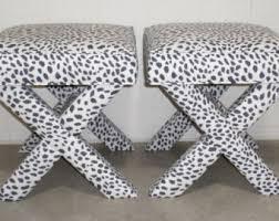 upholstered x bench etsy