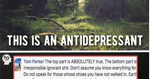 facebook page truth theory creates antidepressant meme attn