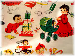 vintage children s wrapping paper becca flickr