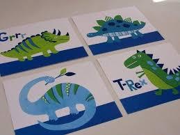 20 collection of dinosaur wall art for kids wall art ideas