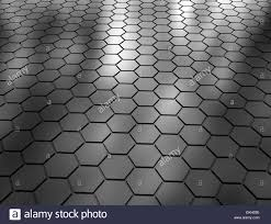 abstract 3d rendering of hexagon futuristic surface stock photo