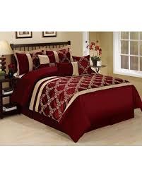 Bed In A Bag Set Deal Alert 11 Piece Queen Claremont Burgundy Gold Bed In A Bag Set