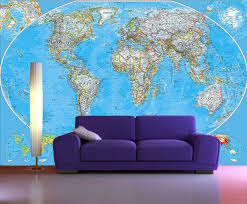 peel and stick photo wall mural decor wallpapers world map art 100