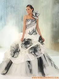 robe de mari e noir et blanc robe de mariée de style gothique victorien 2015 robe de bal tulle
