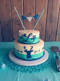 turquoise u0026 navy blue deer and arrow baby shower cake baby stuff