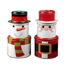 christmas tins wholesale santa storage tins christmas gift box manufacturer santa