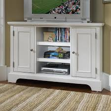 white corner television cabinet shop home styles naples creamy white tv cabinet at lowes com