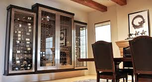 dining room glass cabinet stylish custom wine cabinets iwa design center glass wine cabinet
