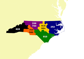 Virginia Area Code Map by Area Code 252 Wikipedia