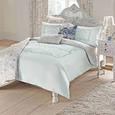 King Size Duvet Bedding Sets Bedroom Duck Egg Vintage Script Duvet Cover Set Dunelm