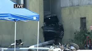 stolen tesla splits in half following police pursuit crash in