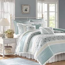 amazon com madison park dawn 9 piece cotton percale cotton