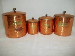 28 best copper kitchen canisters old dutch copper canister set