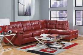 Sectional Chaise Salsa Bonded Leather Sectional