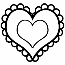 hearts coloring page valentines day blank hearts coloring page