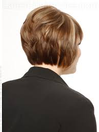 front and back views of chopped hair stacked bob hairstyles back view head turning short