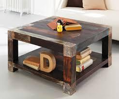 Wohnzimmertisch Luxus Wohnzimmertisch Goa Akazie Mango 80x80 Cm Mit Ablage By Wolf Ebay