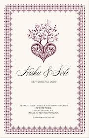 wedding program cover wording hindu wedding program wording indian wedding cards isure search