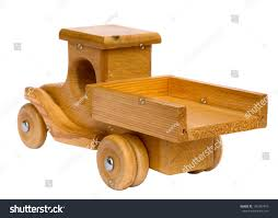 homemade truck old wooden homemade truck isolated on stock photo 195387419