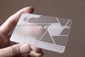 Ivory Business Cards Transparent Plastic Business Cards Transparent Plastic Business