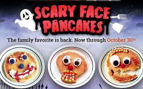 Get Free Pancakes At Participating Scary Pancakes Are Back At Ihop Get A Free Pancake On 10 30