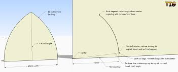 Sketchup Draw Line Specific Length Trying To Draw Bow Roof Gothic Arch For My Greenhouse Sketchup