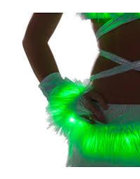 Light Up Gloves Faux Fur Gloves Furry Light Up Gloves Rave Wear Costume Gloves
