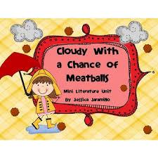 chance meatballs mini unit worksheets centers