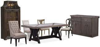 the lancaster farmhouse dining collection value city furniture