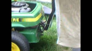 how to install a bagger on your john deere srx75 or other rear