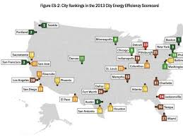 cities map most energy efficient cities map business insider