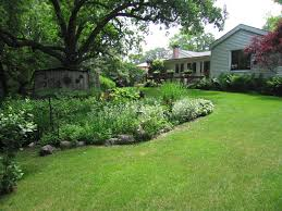 backyard landscaping ideas with grass in the middle ideas loversiq