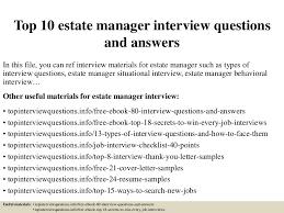 estate manager cover letter haadyaooverbayresort com