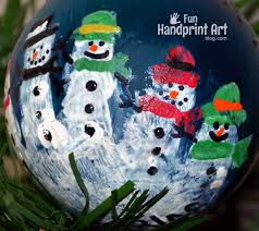 handprint snowman ornament handprint