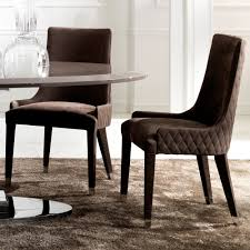 Italian Leather Dining Chairs Quilted Nubuck Leather Italian Dining Chair Juliettes Interiors